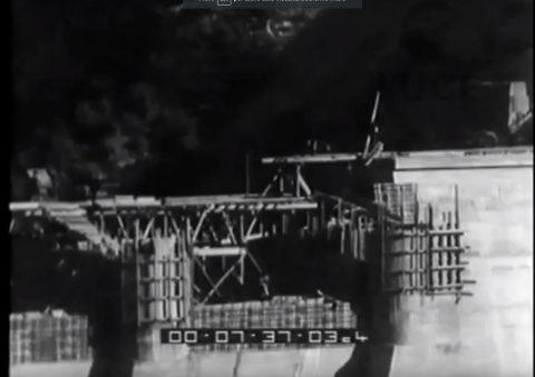 Costruzione diga e ponti  Lago del Turano