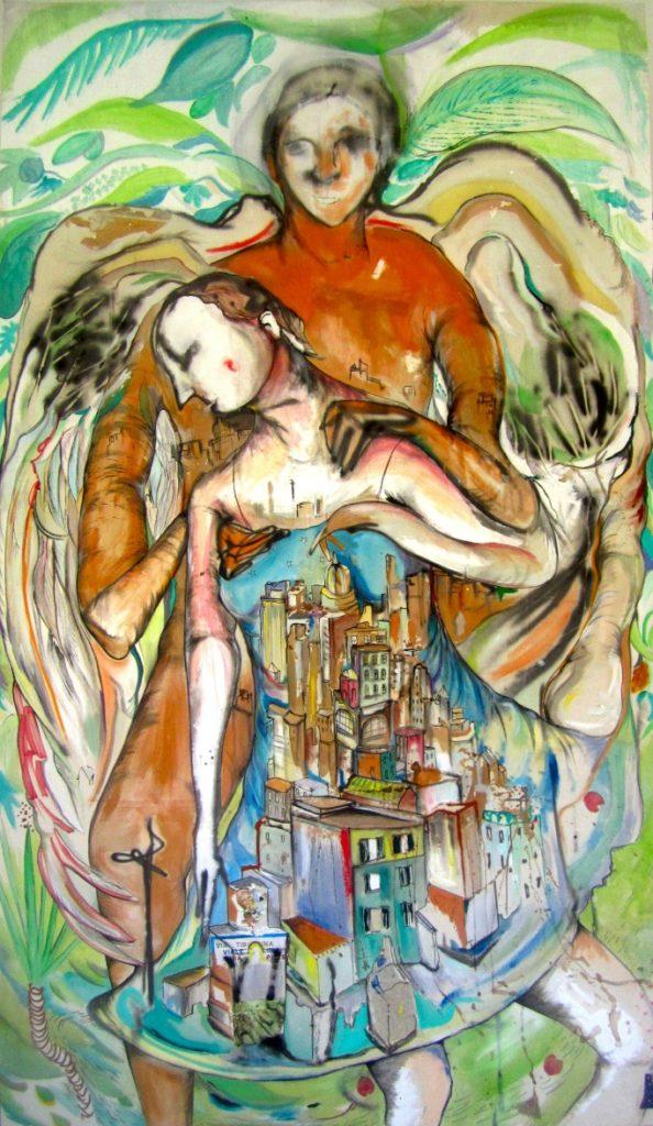 Un'opera di Ryan Spring Dooley, Pietà urbana